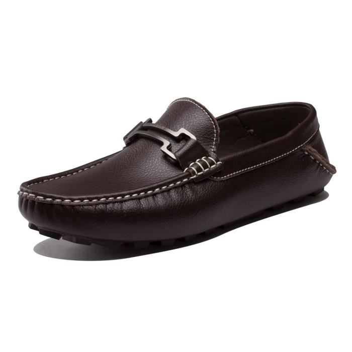 Ausland Slip-on classique Mocassins Casual Boat Shoe 6681 WJY3K Taille-39 1-2