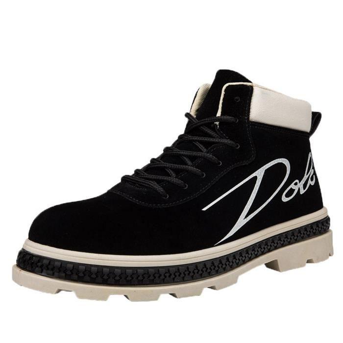 Bottes Hommes Bottines travail Chaussures Casual Haut Cut adultes Chaussures de sport Chaussures de marche XYM81004903BK40 Noir