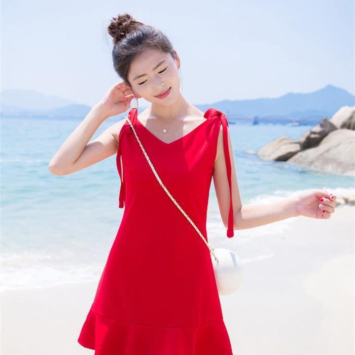 09009a90a33 Robe rouge et noir - Achat   Vente pas cher