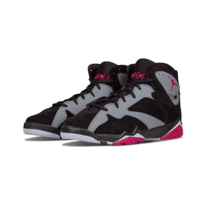 nouveau style 17b7c dd4e3 JORDAN air 7 retro gg grand enfant chaussures noir - sport fuchsia - loup  gris 442960-008 1XBWZS Taille-36
