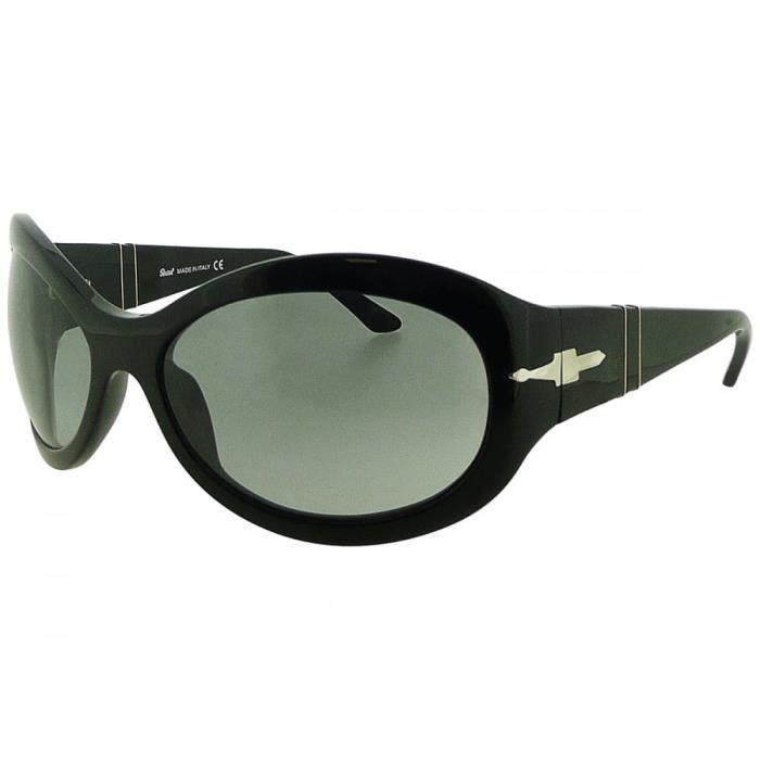 Mesdames noir Lunettes de soleil oversize avec des verres teintés gris