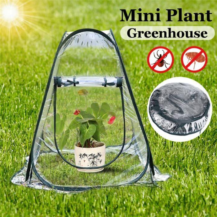 Clou Piercing Nez 1pcs jardin plante fleur couverture tente serres PVC  chambre chaude serre de jardin pliant portable mini