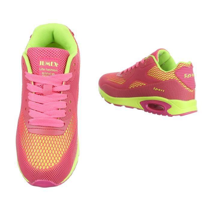 Chaussures Dcontractes Vif Coureur De Baskets Femme Chaussure Sport Rose zFqwxFd4