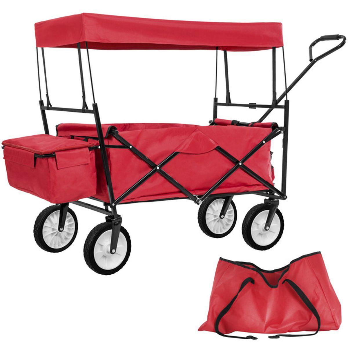 Chariot de jardin remorque main pliable avec toit en - Remorque de jardin pour autoportee ...