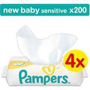 DISTRIBUTEUR LINGETTE  PAMPERS Lingettes Bébé New Baby Sensitive 4x50 Lin