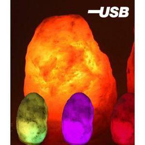 Lampe Multi Couleurs En Cristal De Sel De L Himalaya Pour Port Usb