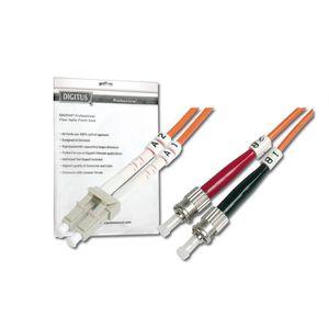 CÂBLE RÉSEAU  Câble Fibre Optique Duplex 50/125 OM2 ST LC Orange
