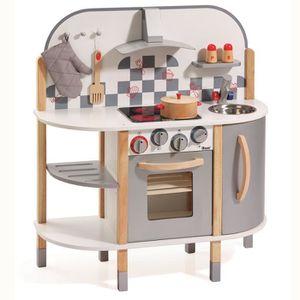 DINETTE - CUISINE howa - Cuisine en bois avec 5 accessoires 4818