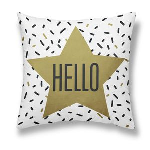 COUSSIN TODAY Coussin - Gold is Black - Hello - 40x40cm -