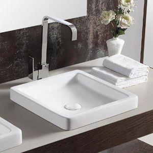 Vasque a encastrer ceramique - Achat / Vente pas cher