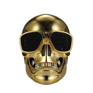 HAUT-PARLEUR - MICRO Skull Bluetooth  haut-parleur  or