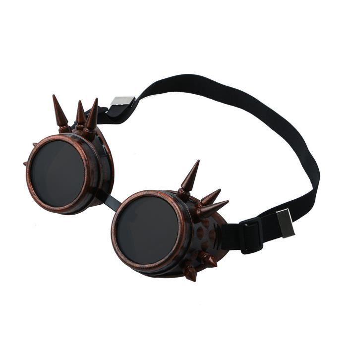 Napoulen®Vintage victorienne steampunk lunettes de soudage cyber punk gothique cosplay XXP71231428