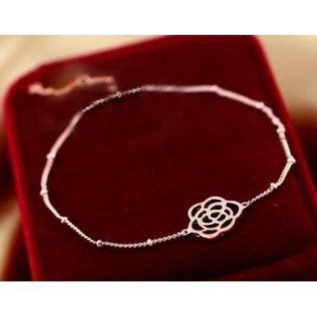 Bracelet fin femme or rose