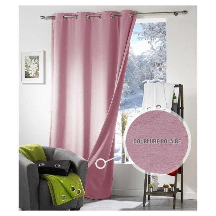 rideau thermique et isolant phonique moonlight rose dragée - achat
