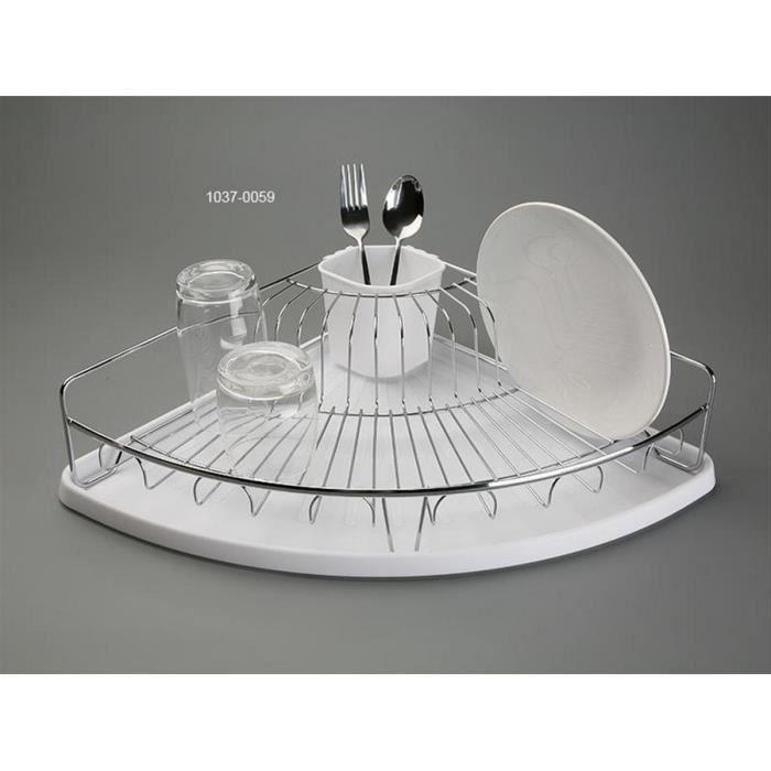 egouttoir vaisselle d 39 angle plateau blanc panier inox versa achat vente egouttoir. Black Bedroom Furniture Sets. Home Design Ideas