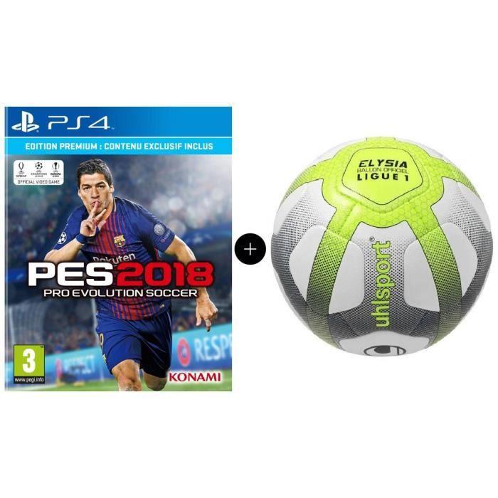 JEU PS4 Pack PES 2018 Premium D1 Edition PS4 + UHLSPORT Ba