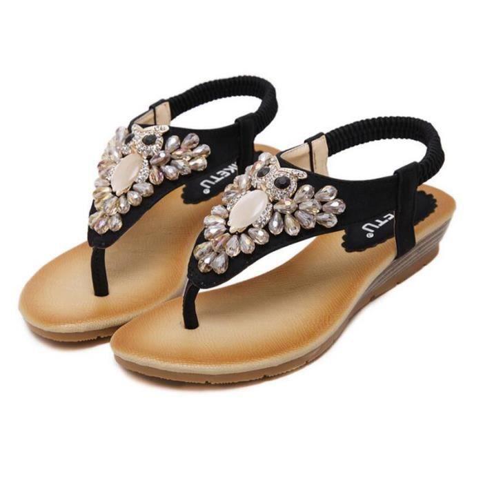 Sandale Femme Sexy Sandales Bohémienne été Sandales Fille KIANII® FvpfYo1w