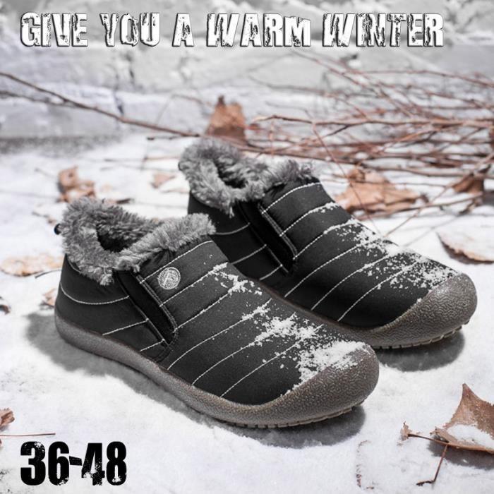 chaud Gardez Coton Femmes Bas de ski solides d'hiver intérieur Chaussures de et Couleur Bottes Bottes neige antidérapage hommes CqOZ8