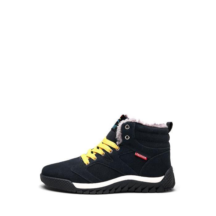 Bottes de neige d'Homme Réchauffez Color Block chaud Mode Chaussures Casual 10035592 axvhcVD