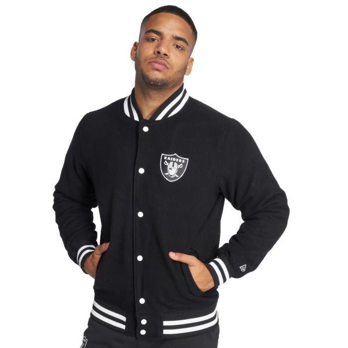 New Oakland Manteaux Teddy Homme Noir Vestes Raiders amp; Era rzCxqr