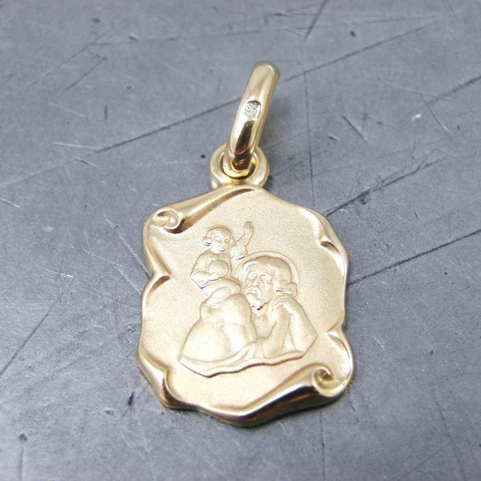 Pendentif plaqué or Saint Christophe