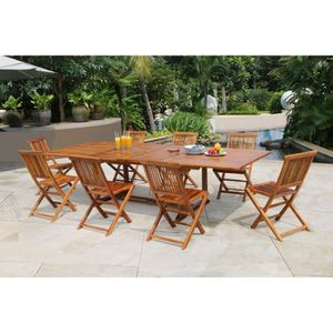 Table et chaise de jardin Bois massif - Achat / Vente Table et ...