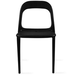 Chaise de jardin noir - Achat / Vente pas cher