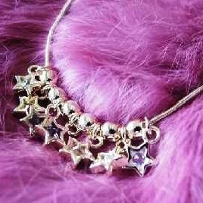 Collier Plaqué-Or Fairy Stars Tutti Frutti