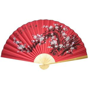 Eventail Geant Chinois Rouge Pour Decoration Murale Achat Vente