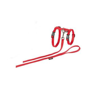 HARNAIS ANIMAL Nobby Harnais + Laisse pour Grand Chat Rouge 34-57
