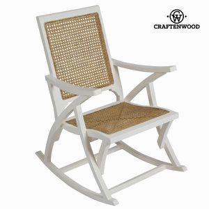 CHAISE Chaise Bascule En Rotin Blanche By Craften Wood