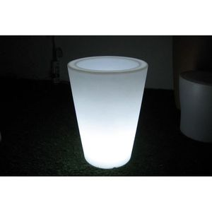 POT LUMINEUX Vase lumineux conique blanc 38 cm ANGUS de Batimex