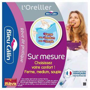 OREILLER Bleu Câlin Lot de 2 Oreillers Sur Mesure Blancs 65