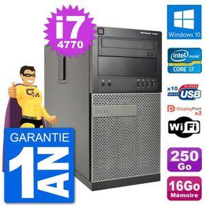 ORDI BUREAU RECONDITIONNÉ PC Tour Dell 7020 Intel Core i7-4770 RAM 16Go Disq
