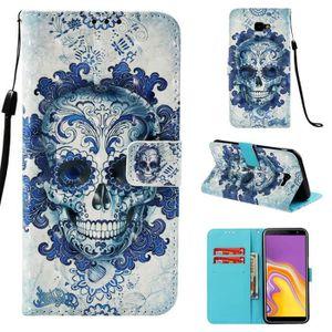 COQUE - BUMPER Coque Samsung Galaxy J4 Plus 2018,Crane Bleu Porte