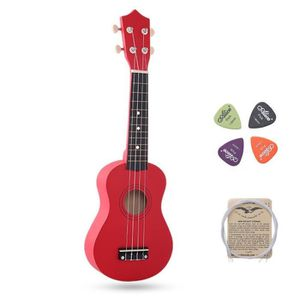 UKULÉLÉ Rouge Hawaii Ukulélé Guitare Mini 4 Cordes Musique