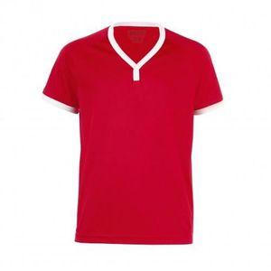 9a98ee58cce07 SOLS Atletico - T-shirt à col en V - Enfant uni... - Achat   Vente t ...