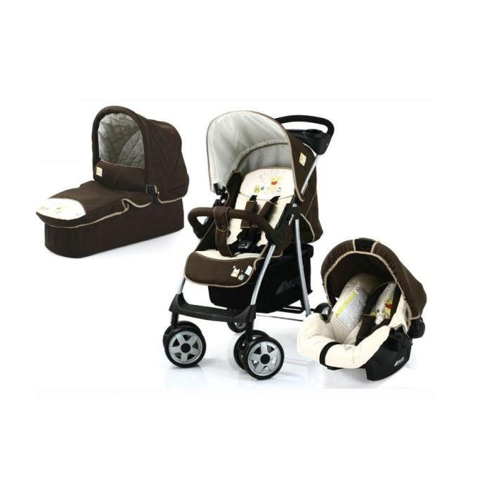 Pack : poussette, nacelle, siège auto gr 0+ - Châssis léger - Dès la naissance jusqu'à 15kg - Garçon et Fille - Livré à l'unitéPOUSSETTE-CHASSIS POUSSETTE