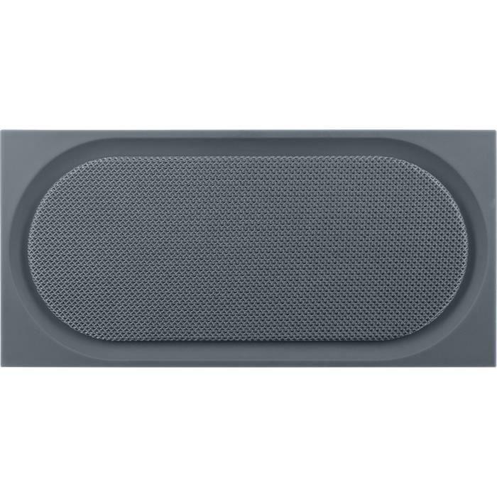 Bluetooth 3.0 - 15W - Portée : 10 m - Jack 3,5mm - Lecteur Micro-SD - Autonomie : 8h - 19x5,6x9,1 cm - GriseENCEINTE - RETOUR