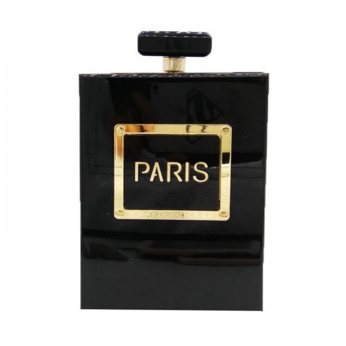 Noir Femme Mode Main Bandoulière Fgg Dames Sacs Bouteille Parfum Boutique Acrylique Embrayages Bag RjAL54