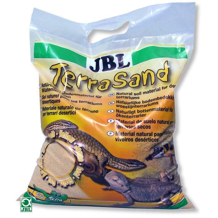 DÉCO VÉGÉTALE - RACINE JBL Substrat de sol Terrasand jaune - Pour reptile