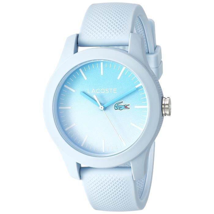 blue And Lacoste Quartz L ' 12 12 Silicone Casual Resin WatchColor exoCQBWrd