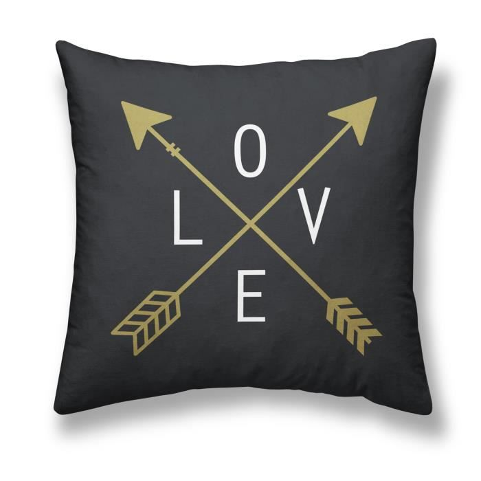 COUSSIN TODAY Coussin - Gold is Black - Love - 40x40cm - N