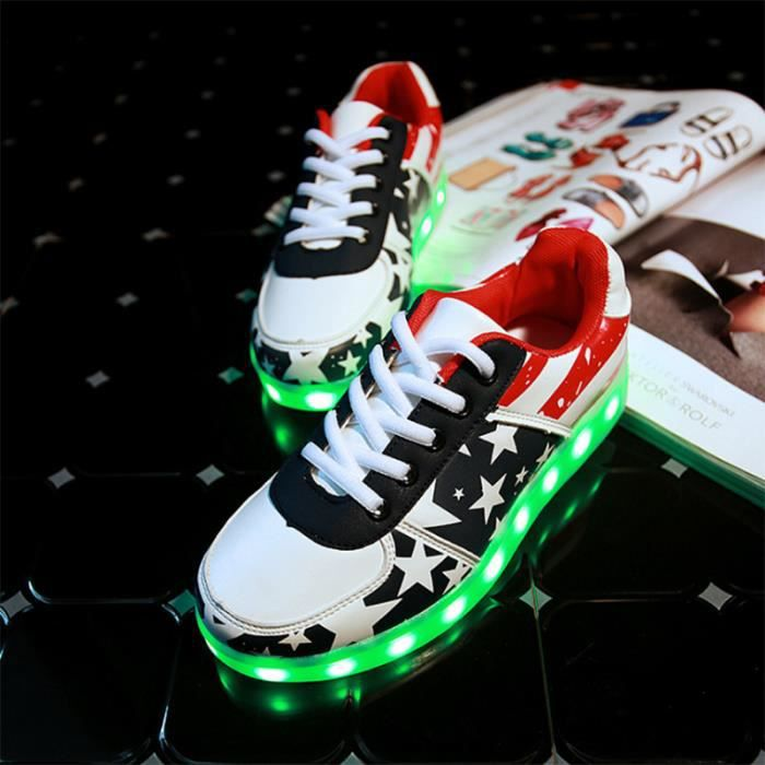 Hommes Led Montante Lumière Mixte Fe Chaussures IDEHYW29