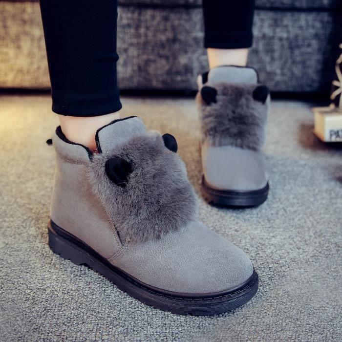 Femmes antidérapage Nouveau Chaussures Bottes solide chaudes neige intérieur Bas couleur de d'hiver de coton Gardez Bottes dv41r4