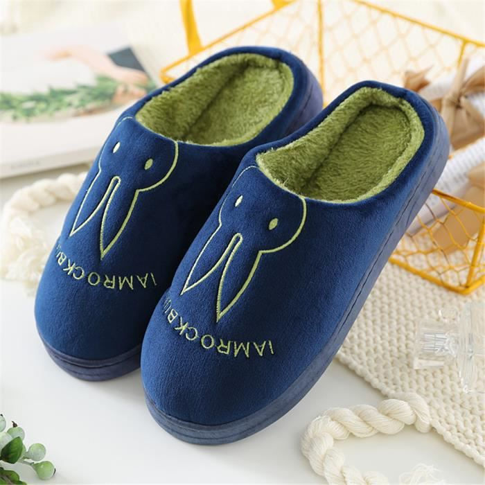 Homme Chaussons Lapin Hiver plus cachemire chaud Chausson Chaussure Loisirs Antidérapant Confortable Nouvelle Mode 40-45 BnYZNo