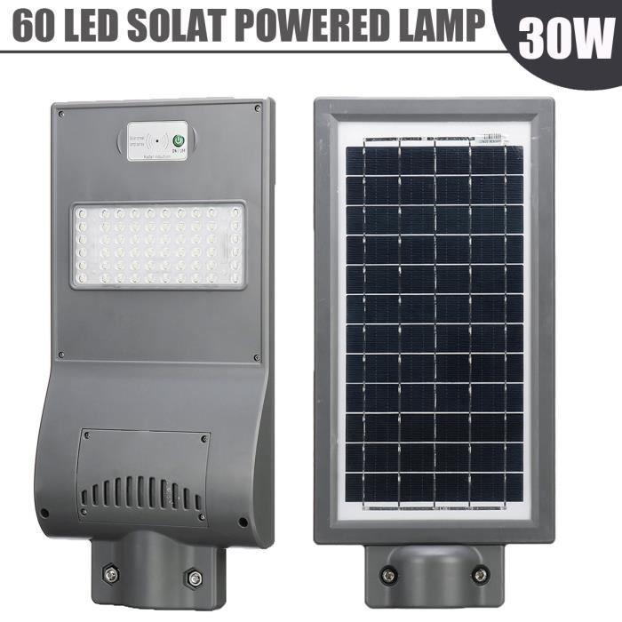 NEUFU LED Lampe Solaire PIR Détecteur Mouvement Éclairage Jardin Extérieur  30W