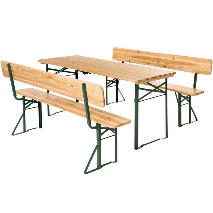Table pique nique pliante bois - Achat / Vente pas cher
