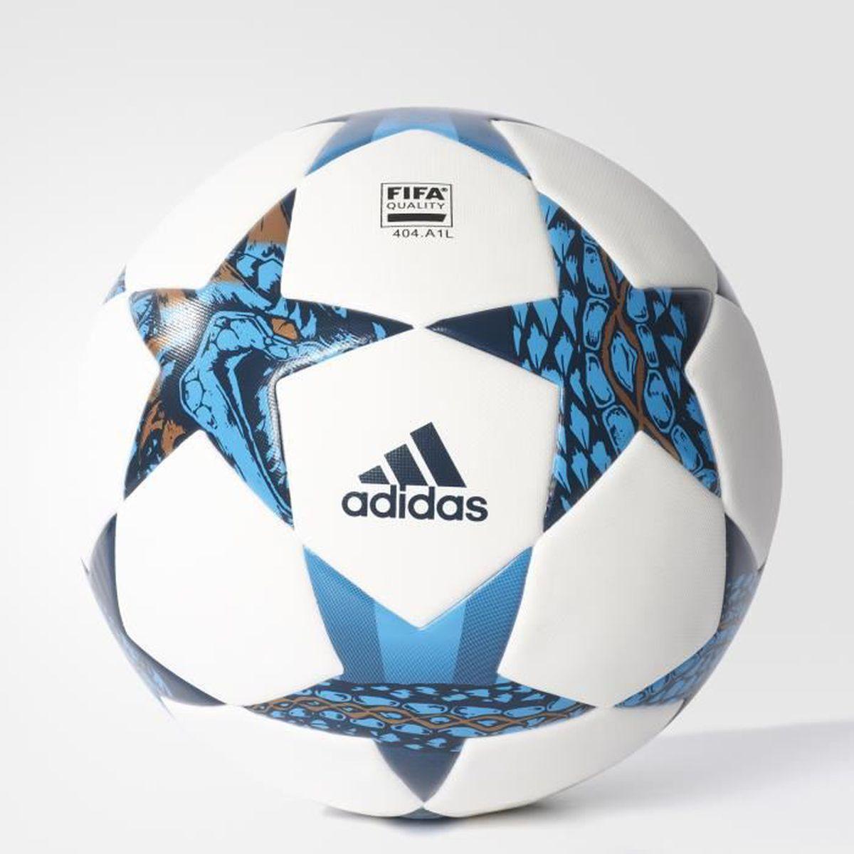 e449f64c0bc7e BALLON DE FOOTBALL Ballon adidas Finale Cardiff Top - blanc bleu nuit