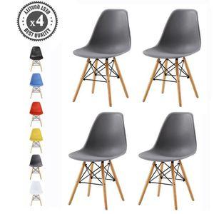 CHAISE Lot de 4 chaises au Design Moderne de Style scandi